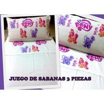 Juego De Sabanas 3 Piezas - Mi Pequeño Pony - My Little Pony