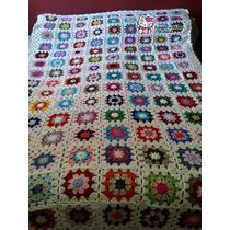 Acolchado Crochet 1 Plaza