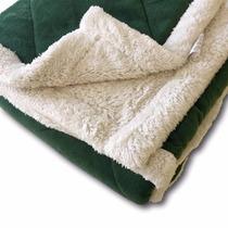 Acolchado Super Soft Con Corderito 2 1/2 Plazas Verde