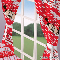 Cortinas Infantiles Disney Piñata Cars Mickey Minnie