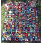 Cubrecama Manta Tejido Al Crochet Tecnica Pachtwork. 1 Plaza