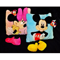Mickey Y Minnie, Almohadón - Acolchado Disney Bebé 2 En Uno