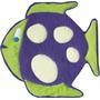 Alfombra - Manta Infantil Pecesito 140x140 Cm Lubel