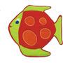 Alfombra - Manta Infantil Pecesito 70x70 Cm Lubel