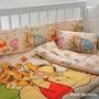 Sábanas Disney Winnie Pooh Y Tigger Cuna. Original Piñata