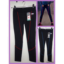 Lote Calzas Deportiva C/detalle De Costura En Color Lady Fit