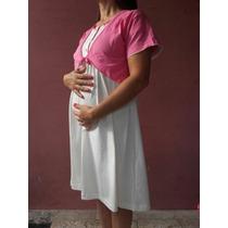 Camison Con Bata Amamantar Futura Mama Maternal Lactancia