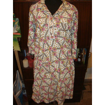 Retro Vintage Años 70 Camison De Lanilla Talle M