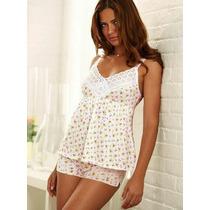 Victorias Secret Pijama De Algodon Y Encaje