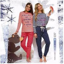 Pijamas De Invierno Mujer Lencatex
