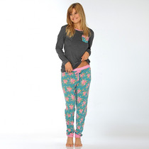 Pijama Flower Print Luz De Mar Dreams 81015+81022