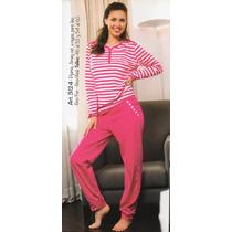 Pijama De Invierno De Mujer. Talle 60 Real