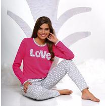 Pijama De Mujer De Invierno. Talles Grandes Hasta 60