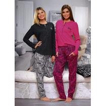 Pijama De Mujer De Invierno Lencatex 6330 Hasta Xxxl
