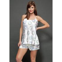 Pijama De Raso Estampado - Bianca Secreta