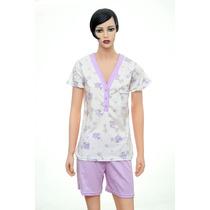 Pijama Mujer Verano Remera Short Algodon Talle 4, 5, 6