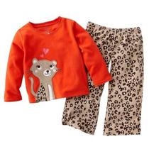 Pijamas Micropolar Carters 2 Piezas Bebas Nenas
