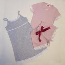 2 Pijamas Nena Algodon Y Encaje Promo Cada Uno $250