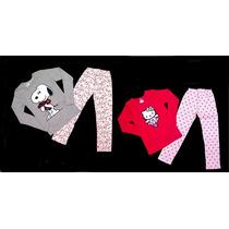 Pijama Nena Invierno Hello Kitty Y Snoopy - Children