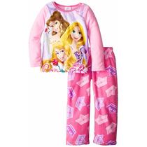 Pijama Disney Princesas Micropolar Importado Original Talle4