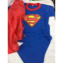 Pijama Superman Con Capa Disfraz