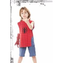 Pijama Hombre Araña Para Chicos Coleccion Verano.