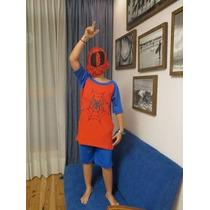 Pijamas Para Niños Esqueleto Y Hombre Araña De Verano