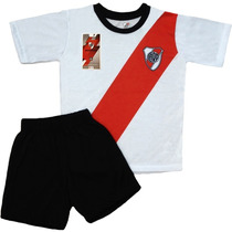 Equipo Pijama River Plate Oficial Club Futbol Niños Remera