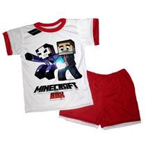 Pijama Manga Corta Minecraft T2 Al T12 Malatan
