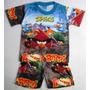 Pijama Conjunto Remera Y Short Angry Birds 4-6-8 Años