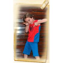 Pijama Hombre Araña Con Luces Led. Solo Talle 10