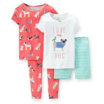 Pijama Carters 4 Prendas Nena (4 Años)