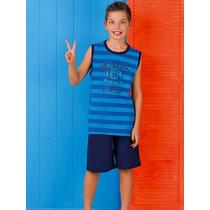 Pijama Niño Lencatex 5941 Talle 10 Azul