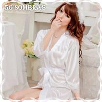 Promo Bata De Raso Glam - Lencería 50 Sombras
