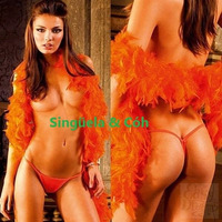 Lenceria Tanga + Boa Super Hot Art 4040