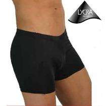 Boxer Lycra Total Con Suspensor Push Up En Blanco Y Negro
