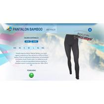 Pantalon Termico Forest Negro Liso Bamboo Organico