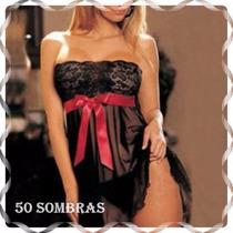 Babydoll De Encaje Sexy - Lenceria 50 Sombras Collection