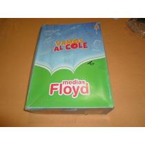 Medias Colegial Floyd Azul Y Verde