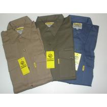 Camisa Pampero Color Beige - Azul Aero - Oliva Talle 48-54