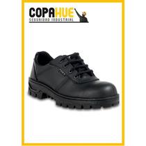 Zapato De Seguridad Trabajo Pardo Con Puntera De Acero Negro