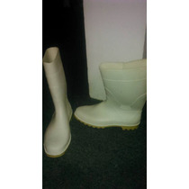 Botas Blancas De Goma , Lluvia, Carnicero 45