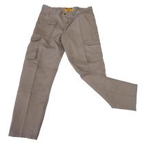 Pantalón Trabajo Cargo Reforzado Gaucho Talles 38 A 46 Beige