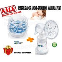 Avent Philips Sacaleche Manual+esterilizador Avent+regalo!!!