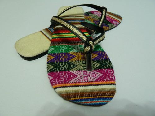Sandalias Dama Diseño Manta Peruana Aguayo