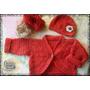 Conjunto De Saquito + Gorrito Tejidos Al Crochet