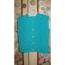 Chaleco Bebé 1 A 3 Meses Crochet