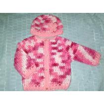 Saco Chaleco Nena Crochet
