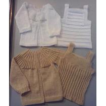 Conjuntos Para Bebés En Hilo Tejidos A Mano. Varios Talles