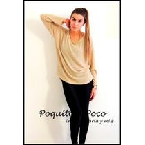 Sweater De Lurex Dorado -mujer Temporada Otoño-invierno 2015